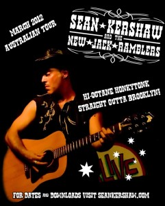 Sean Kershaw Australian Tour Poster